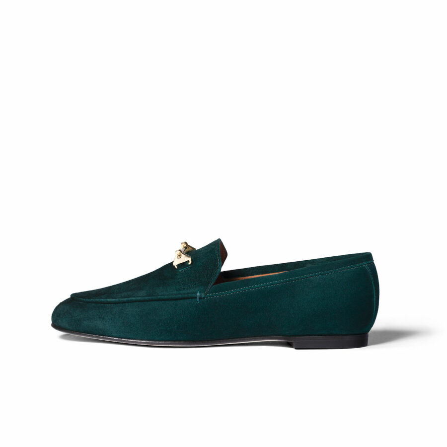 THE SANAA LOAFER IN BOHEMIAN GREEN SUEDE