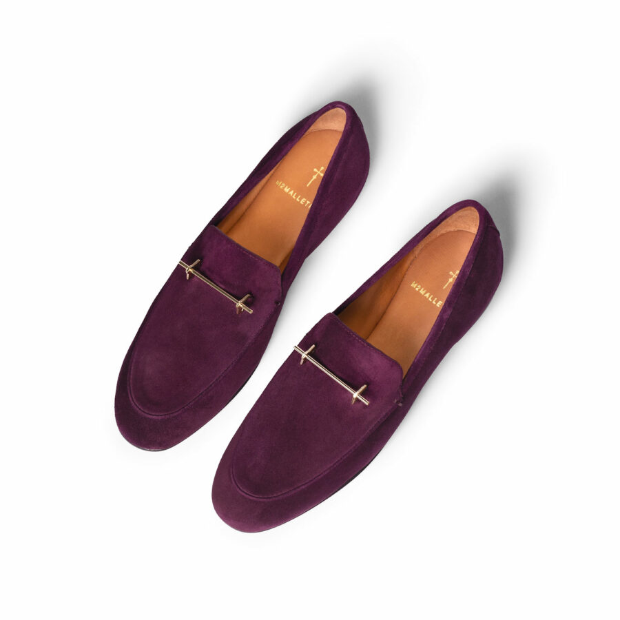 THE SANAA LOAFER IN LILY ROSE SUEDE