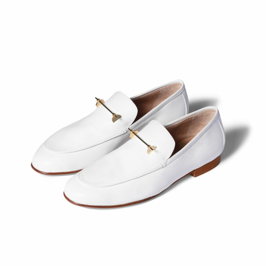 THE TADAO LOAFER IN WHITE