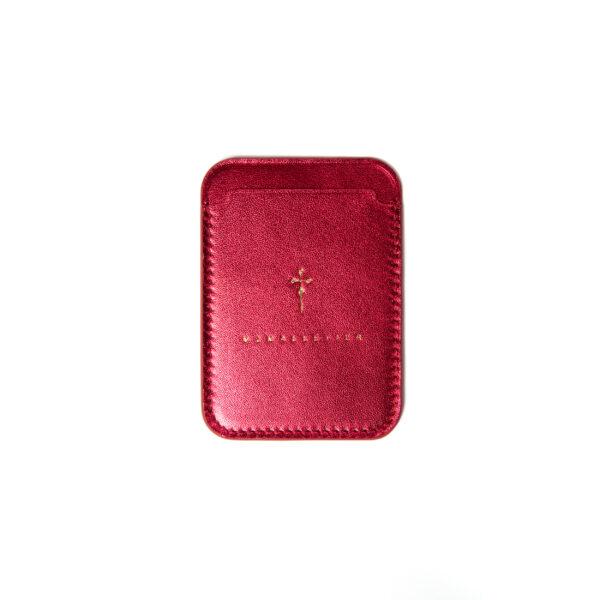 Phone Cardholder Metallic Pink
