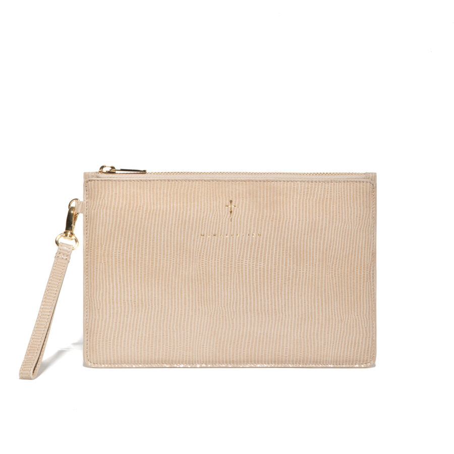 SAND LEATHER POUCH